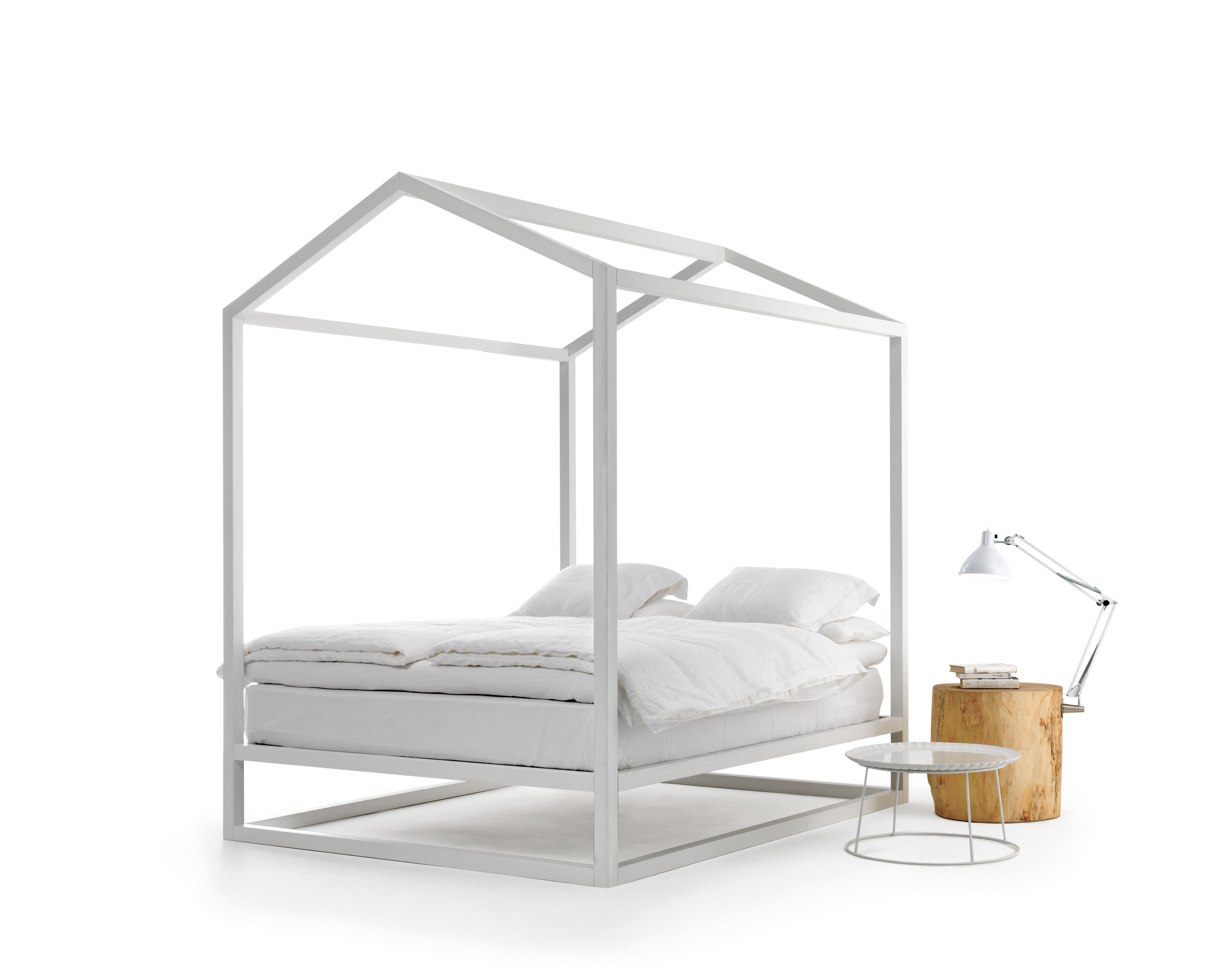 Casetta in canad four poster bed 213 x 183 x h 235 cm for Lit baldaquin