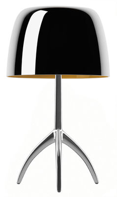 Foto Lampada da tavolo Lumière Grande / Variazione - H 45 cm - Edizione 25 anni - Foscarini - Alluminio lucido - Metallo