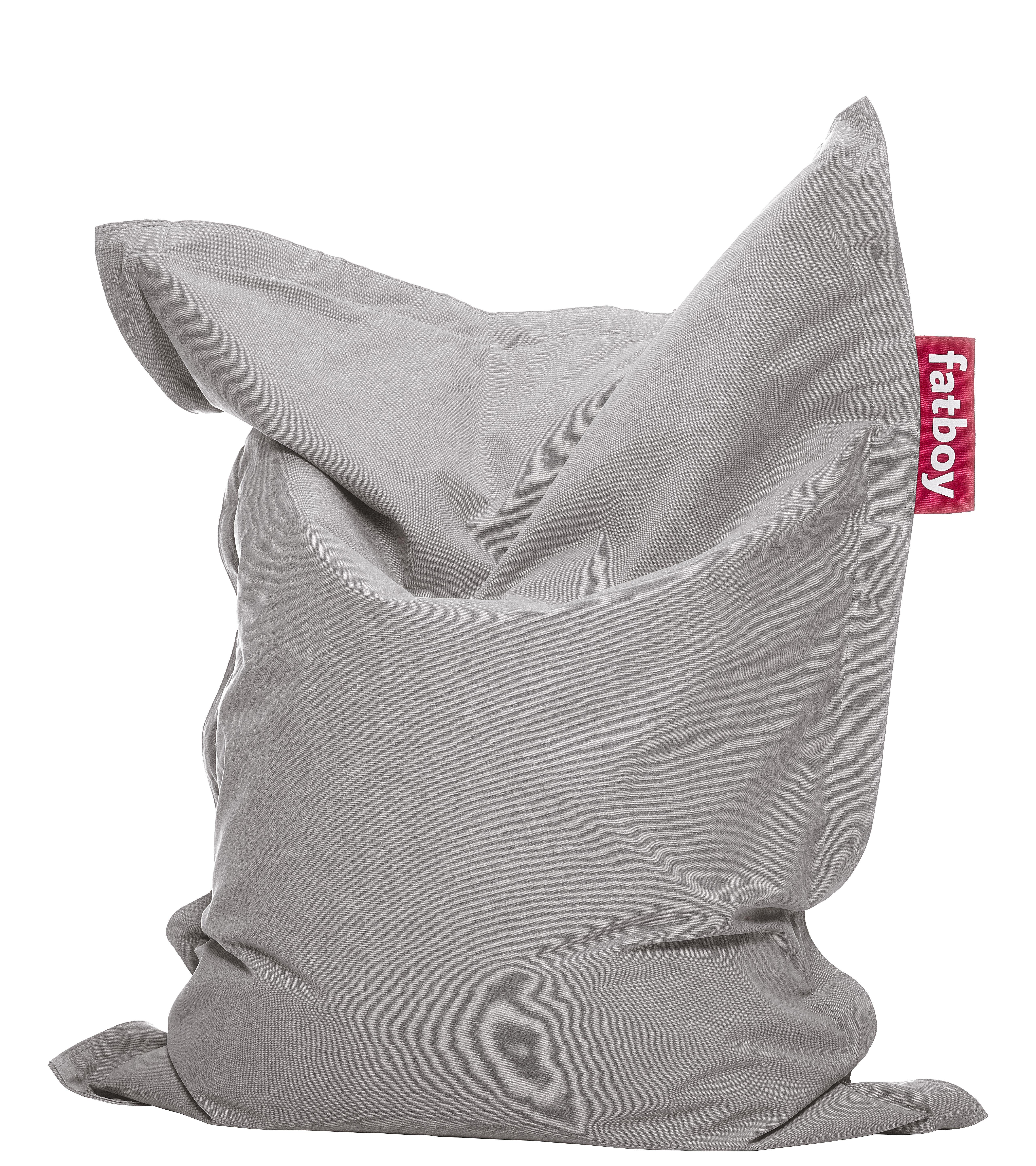 pouf junior stonewashed pour enfant argent fatboy. Black Bedroom Furniture Sets. Home Design Ideas