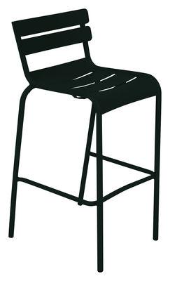 Foto Sedia da bar Luxembourg - / seduta A 80 cm di Fermob - Liquirizia - Metallo
