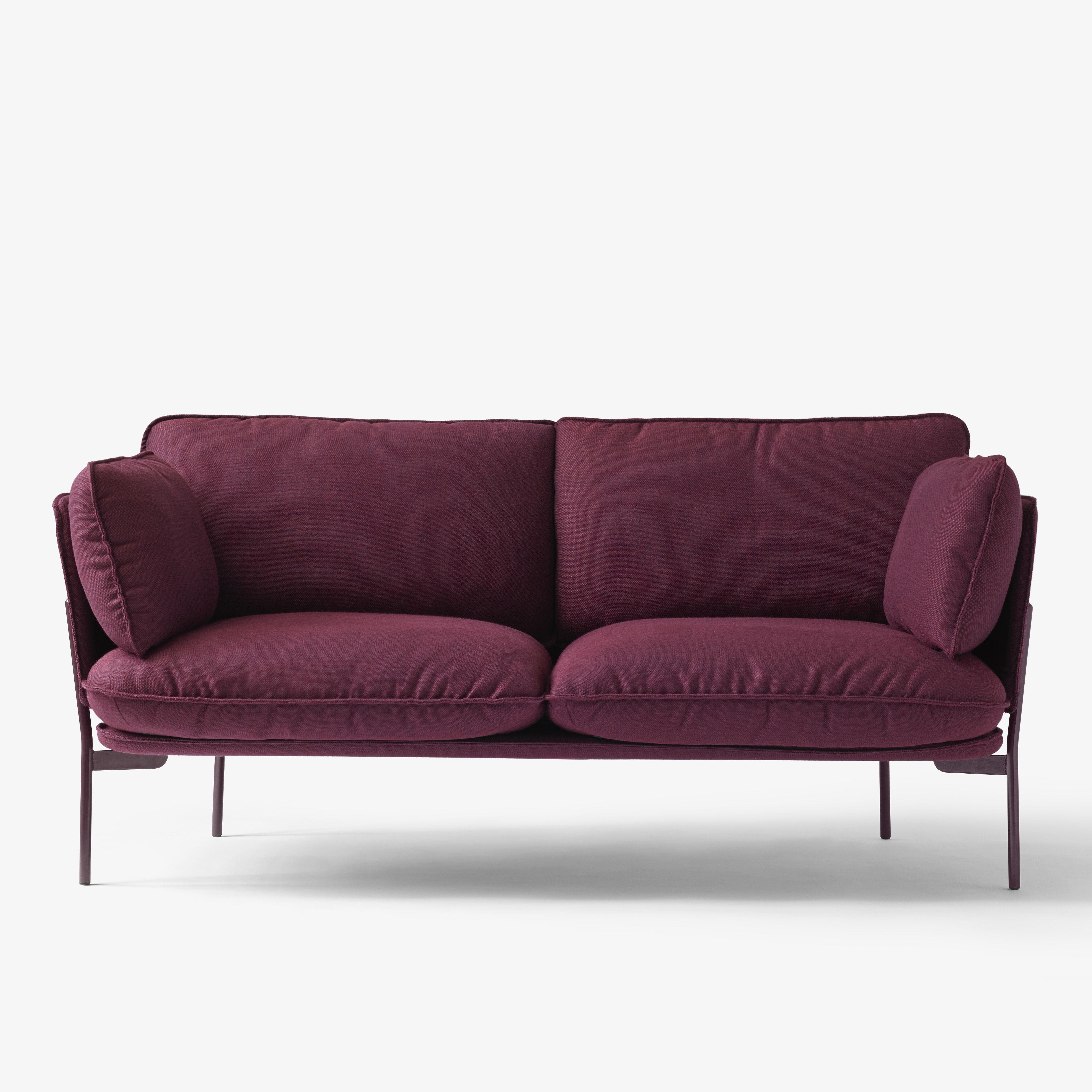 canap droit cloud ln2 2 places l 168 cm bleu nuit. Black Bedroom Furniture Sets. Home Design Ideas