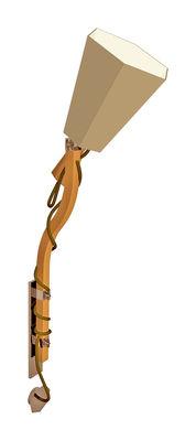 Image of Applique LuXiole H 110 cm - Designheure Abat-jour Kaki / int. Blanc