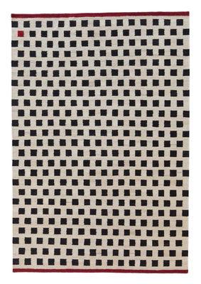 Foto Tappeto Melange - Pattern 3 / 170 x 240 cm - Nanimarquina - Bianco,Rosso,Nero - Tessuto