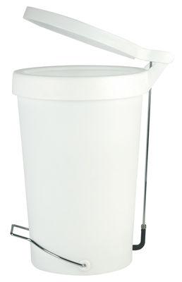 Poubelle p dale tip 30 litres blanc translucide - Poubelle cuisine pedale 30 litres ...