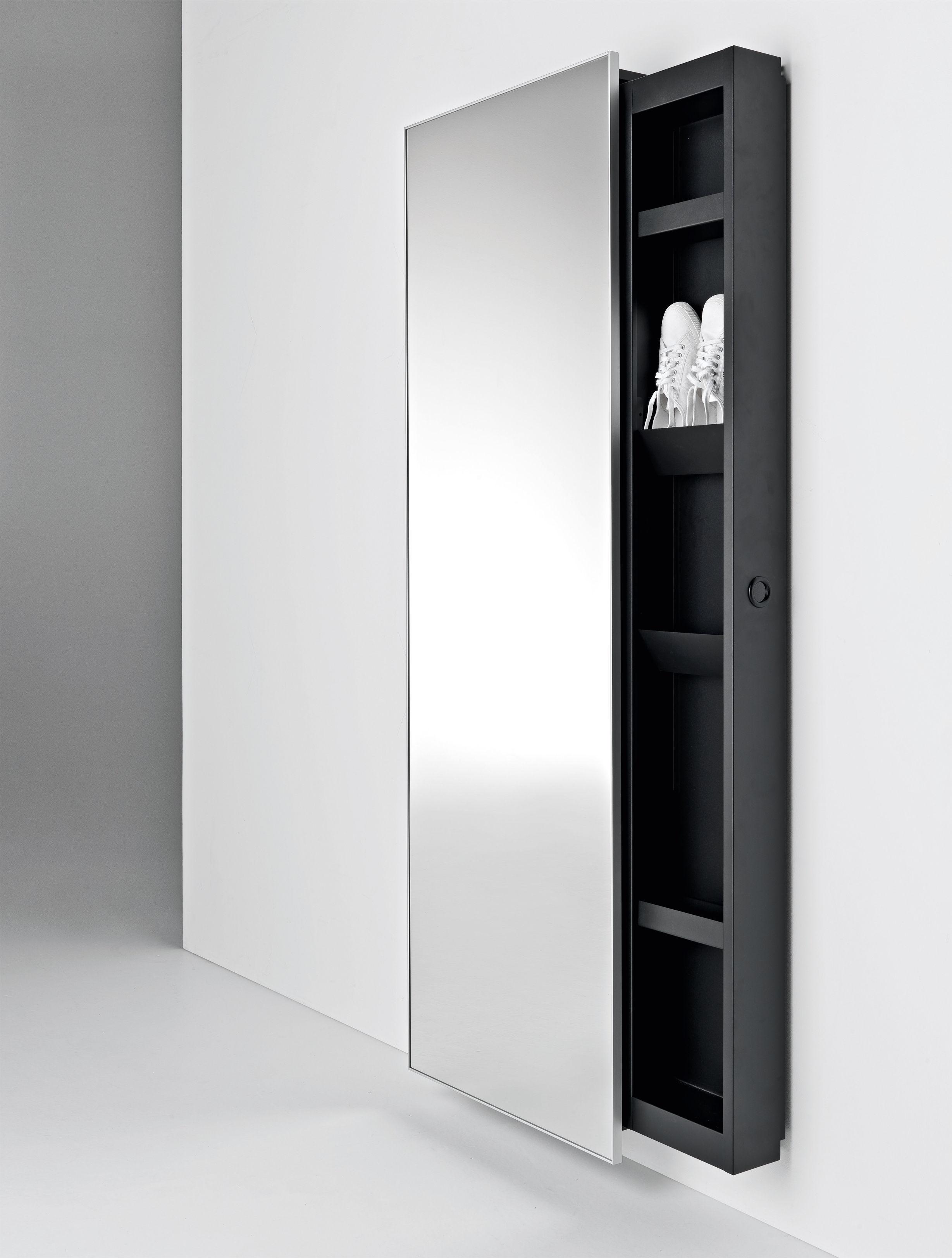 armoire backstage miroir 64 x h 192 cm l 64 x h 192 cm miroir cadre noir horm. Black Bedroom Furniture Sets. Home Design Ideas