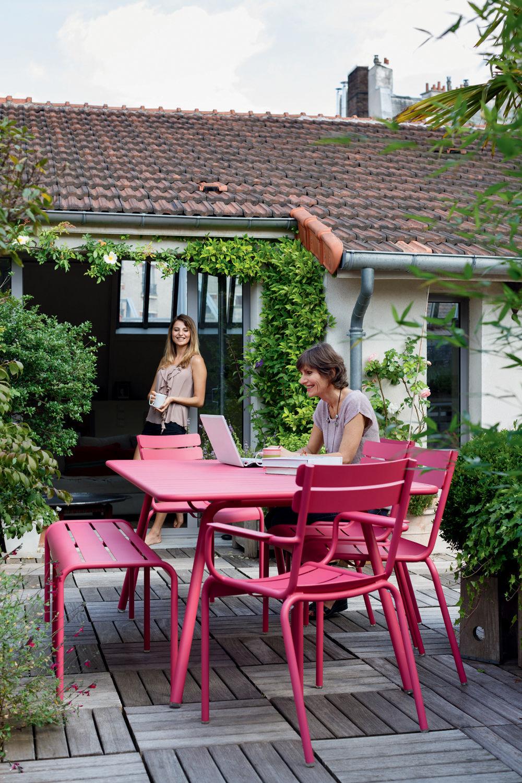 Table luxembourg 6 personnes l 143 cm miel fermob - Fermob jardin du luxembourg ...