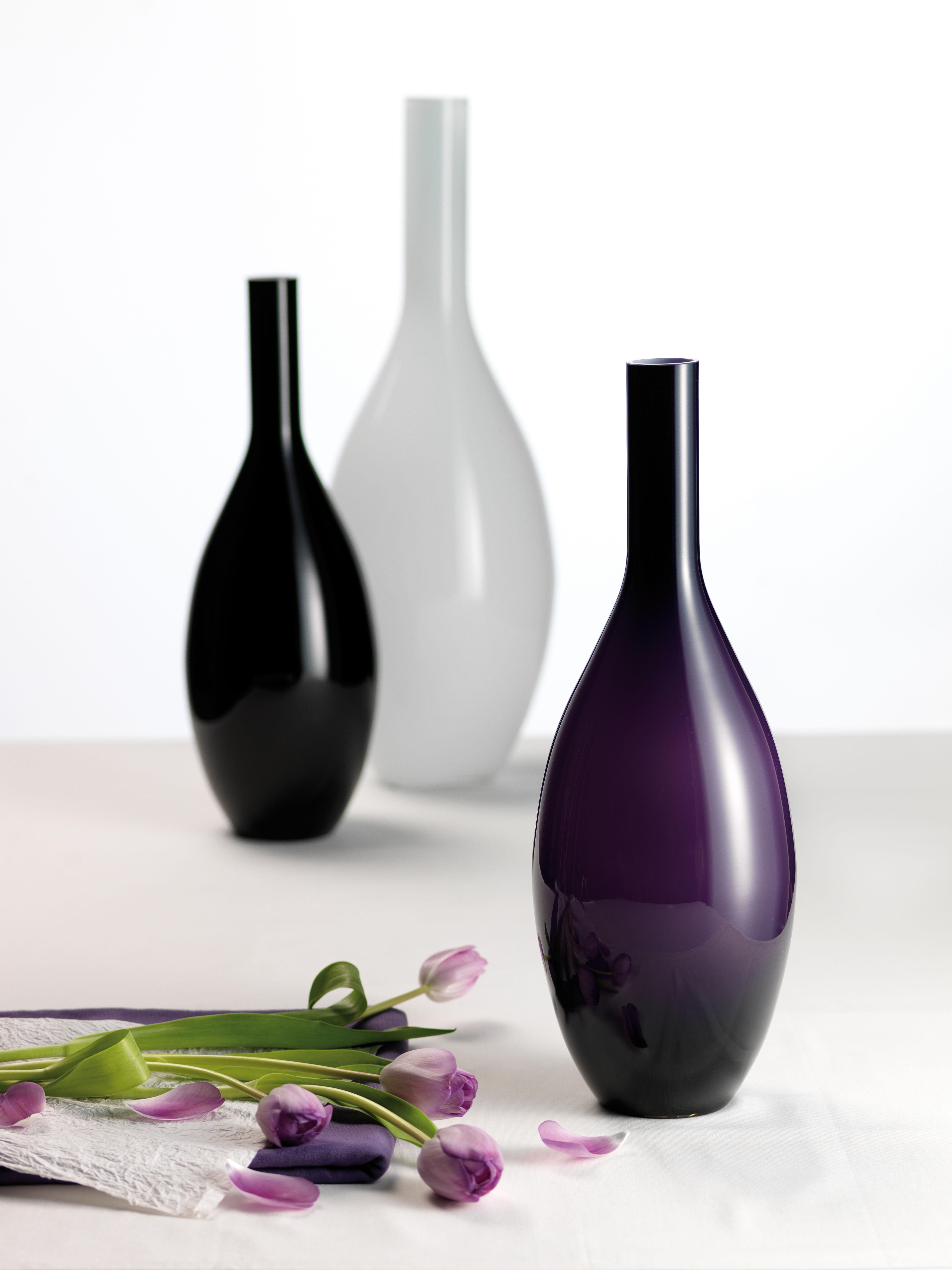 beauty vase h 50 cm grey by leonardo. Black Bedroom Furniture Sets. Home Design Ideas