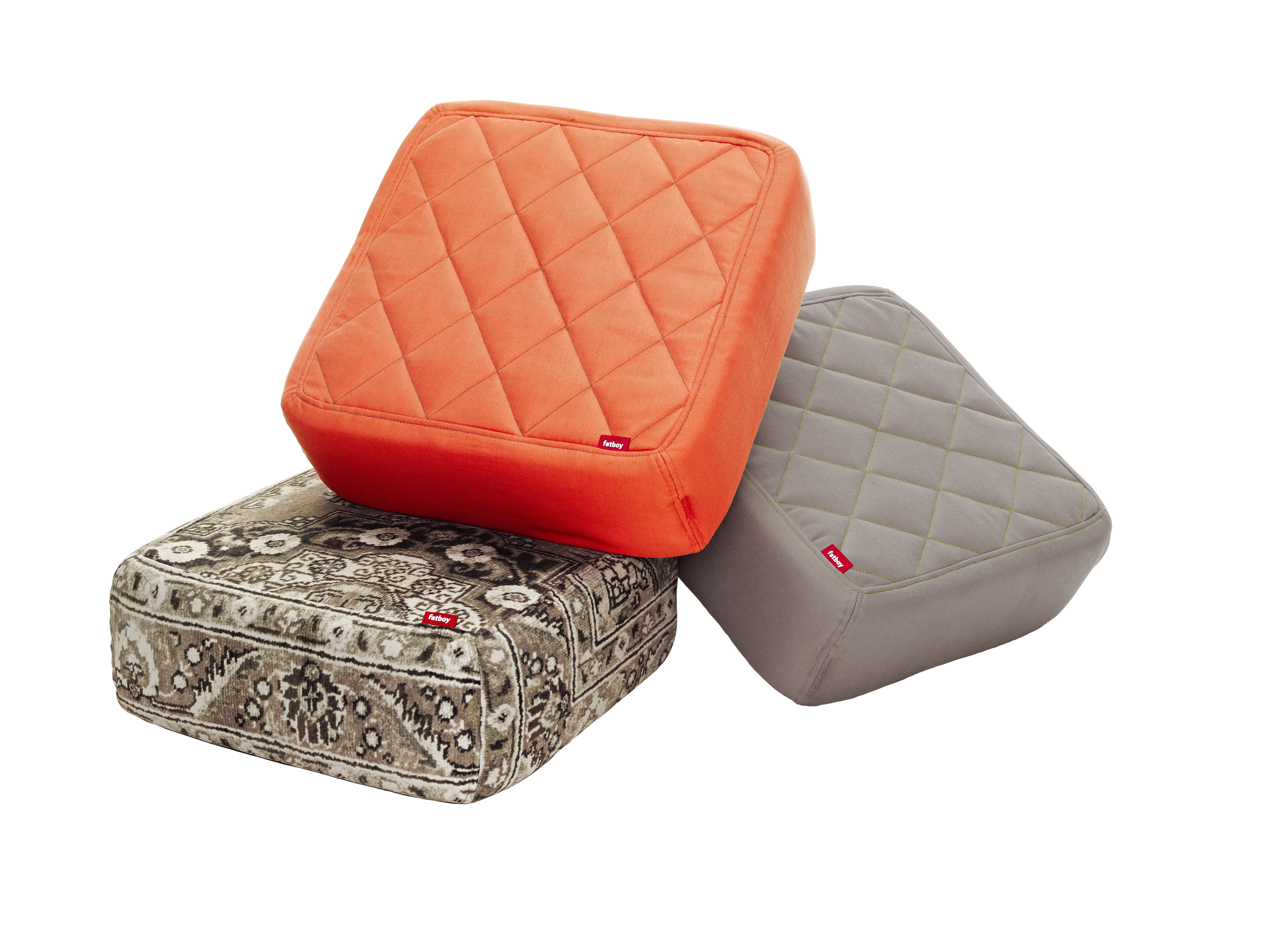 baboesjka pouf set 3 floor cushions orange taupe persian taupe by fatboy. Black Bedroom Furniture Sets. Home Design Ideas