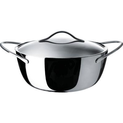 Foto Casseruola Domenica - con coperchio e cesto per cottura a vapore - Ø 28 cm di Alessi - Acciaio - Metallo