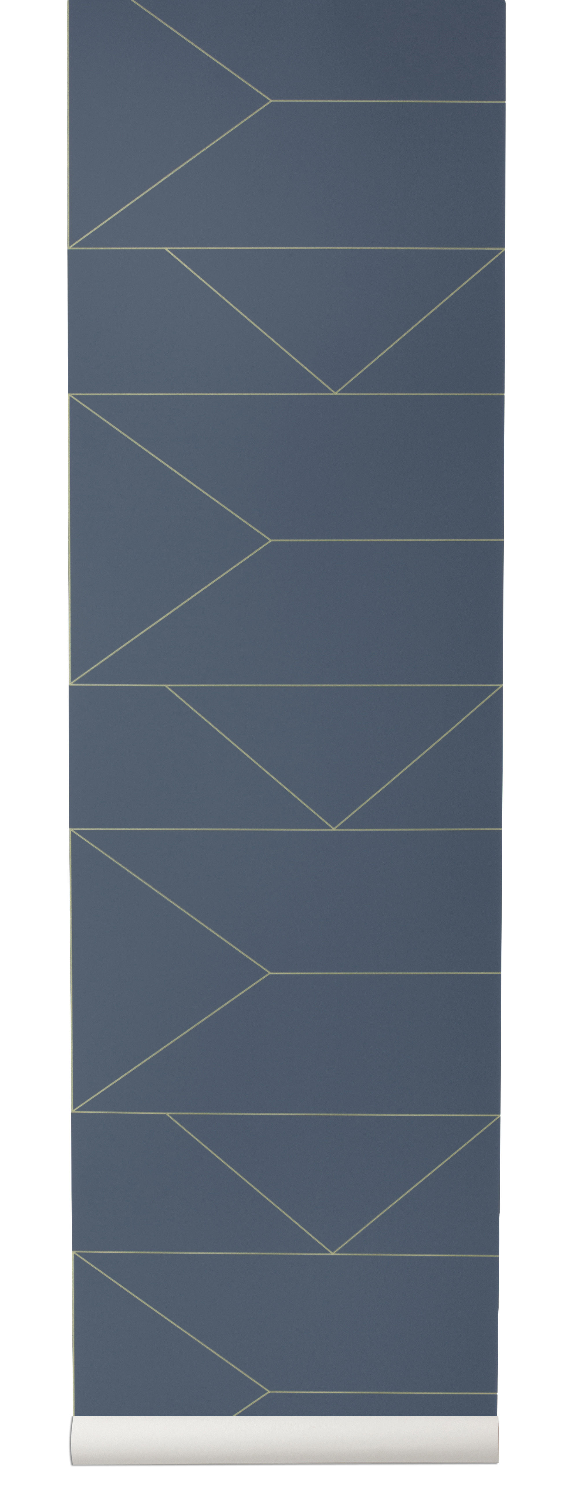 papier peint lines 1 rouleau larg 53 cm bleu or ferm living. Black Bedroom Furniture Sets. Home Design Ideas