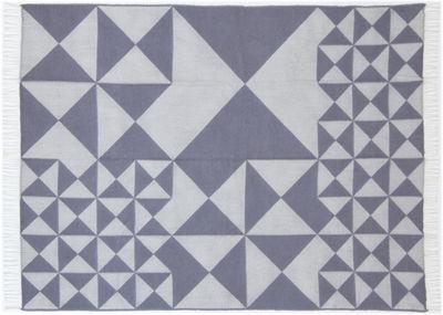 Foto Plaid Mirror Throw - / 130 x 190 cm - Panton 1969 di Verpan - Grigio chiaro - Tessuto