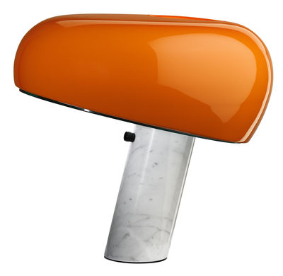 snoopy table lamp limited edition orange white by flos. Black Bedroom Furniture Sets. Home Design Ideas