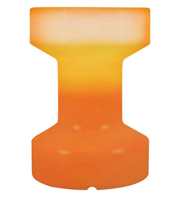 Foto Sgabello luminoso - luminoso/Senza fili ricaricabile - H 55 cm di Bloom! - Arancione - Materiale plastico
