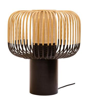 Foto Lampada da tavolo Bamboo Light - / H 40 x Ø 35 cm di Forestier - Nero,Bambù - Legno
