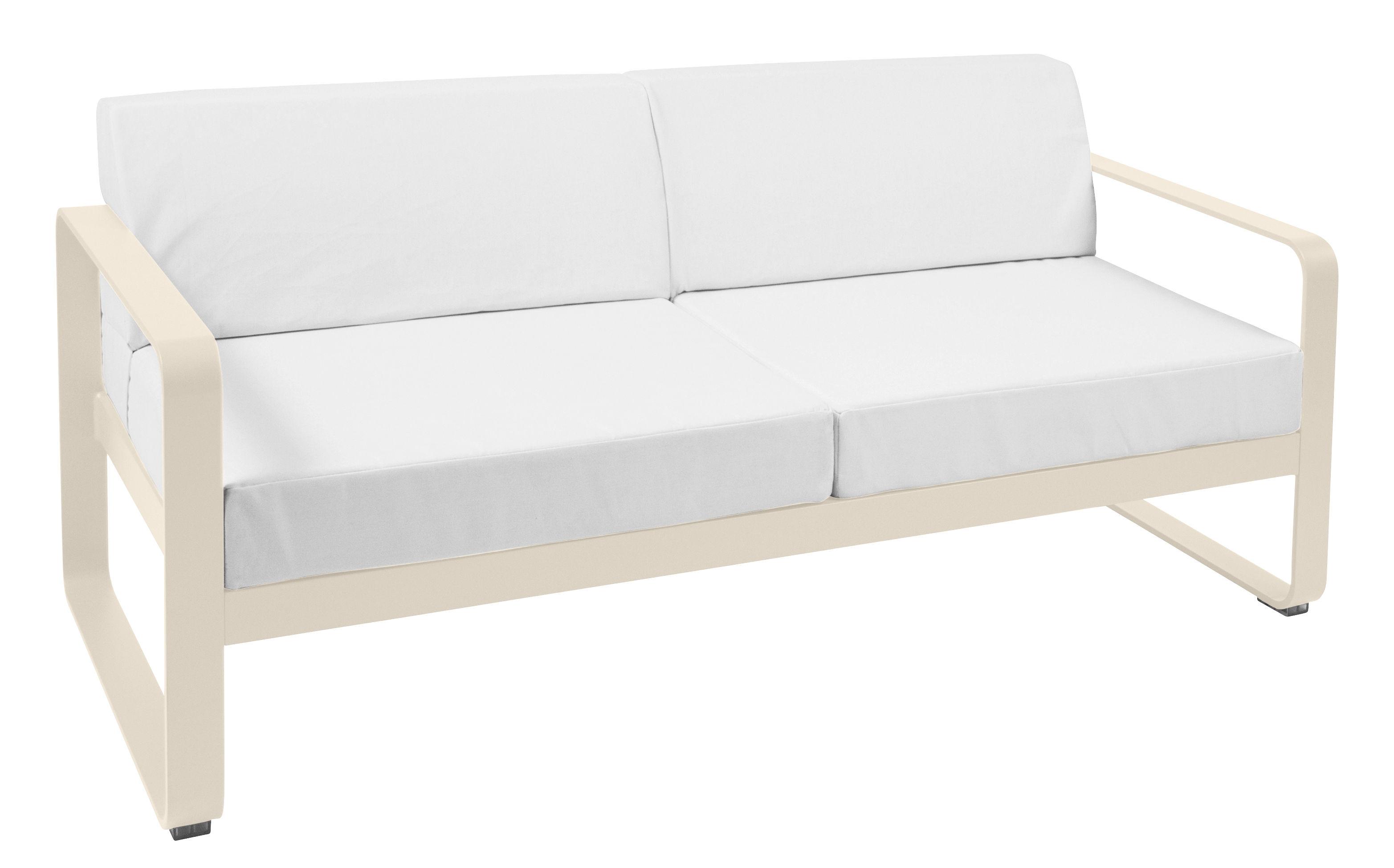 canap droit bellevie l 160 cm 2 places lin fermob. Black Bedroom Furniture Sets. Home Design Ideas