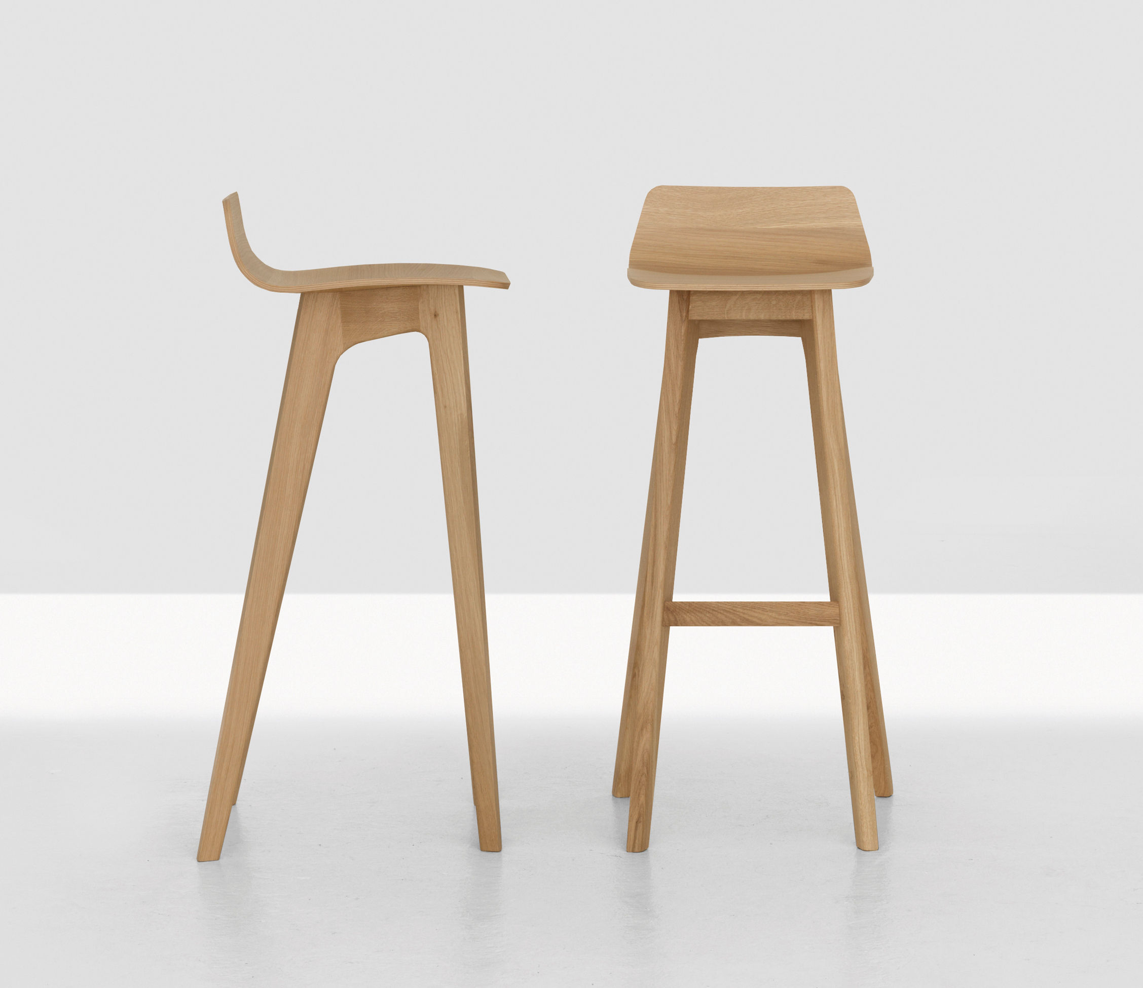 Morph Bar Stool Wood H 80 Cm Oak By Zeitraum