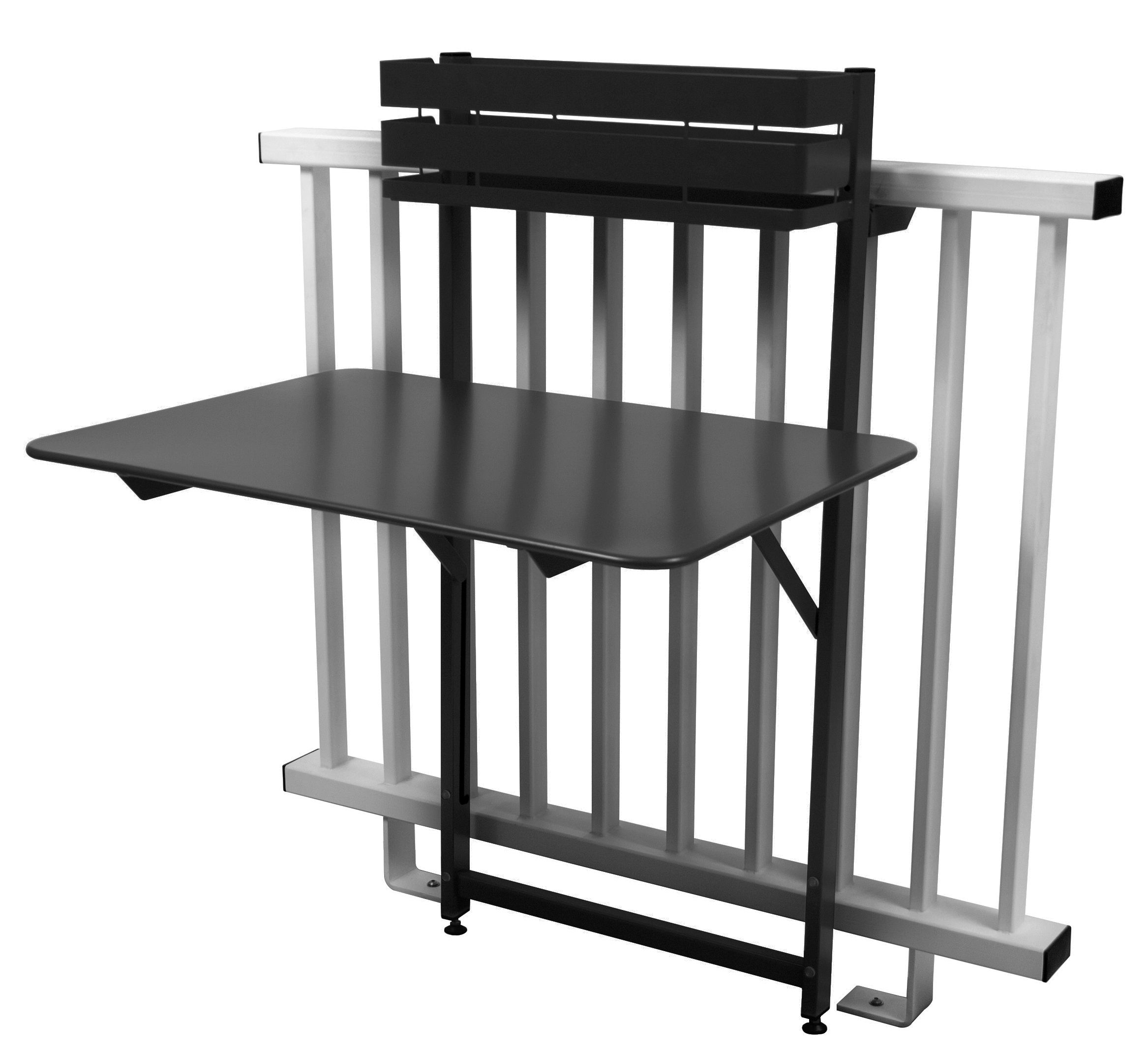 Table pliante balcon bistro rabattable 77 x 64 cm fermob - Table balcon pliante rabattable ...