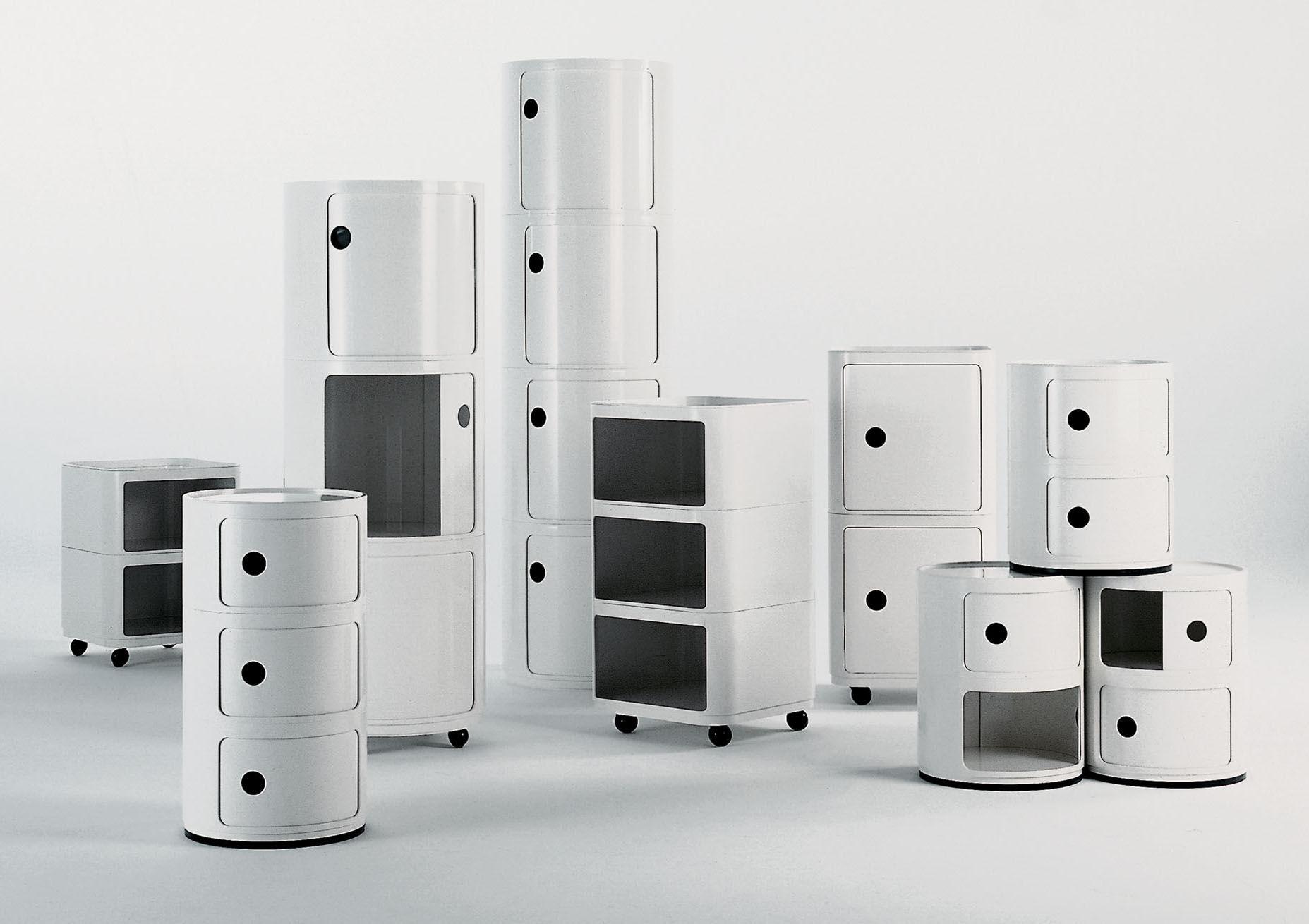 Scopri portaoggetti componibili nero di kartell made in design italia - Chevet kartell componibili ...