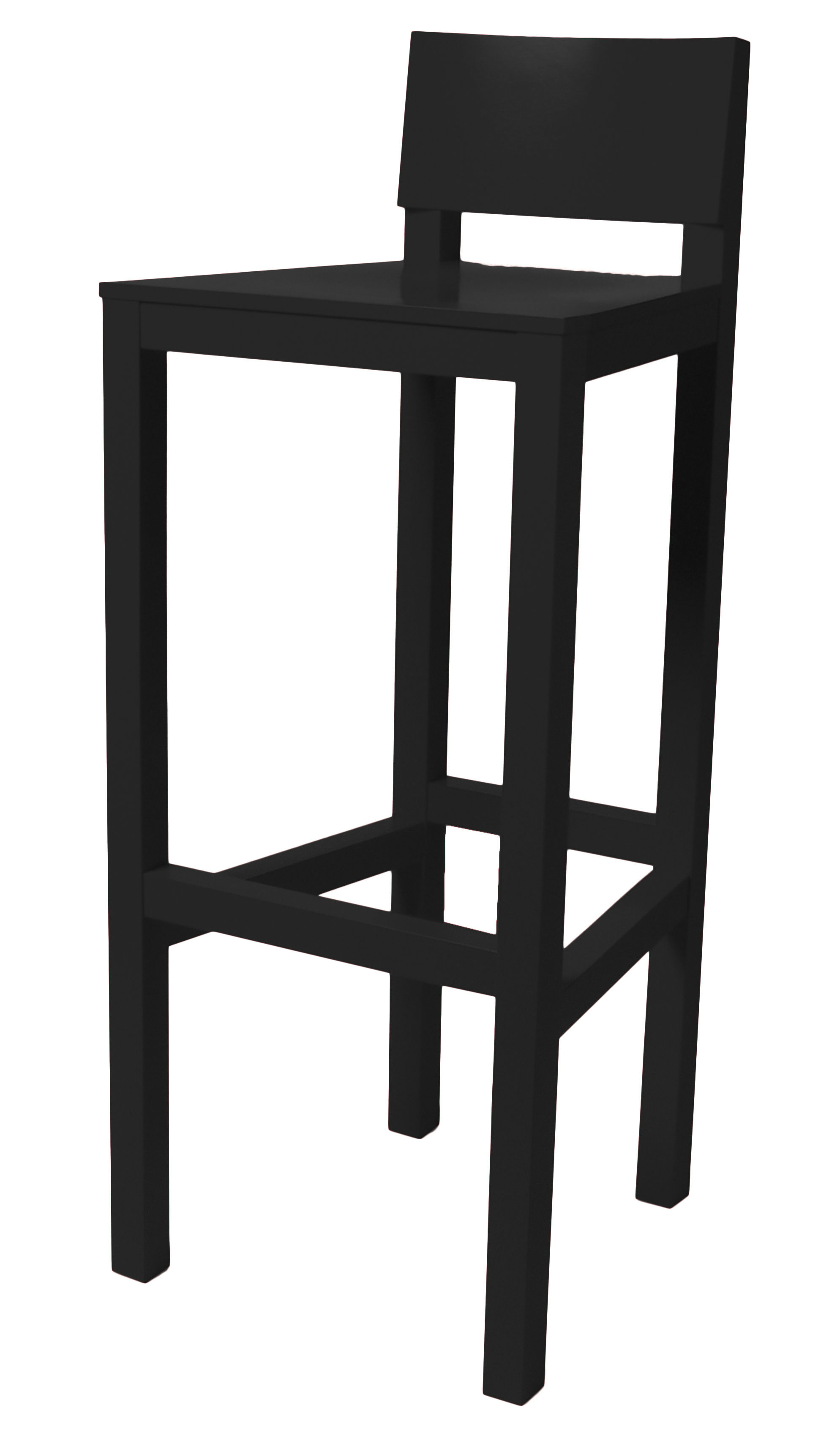 tabouret de bar avl h 80 cm bois noir moooi. Black Bedroom Furniture Sets. Home Design Ideas