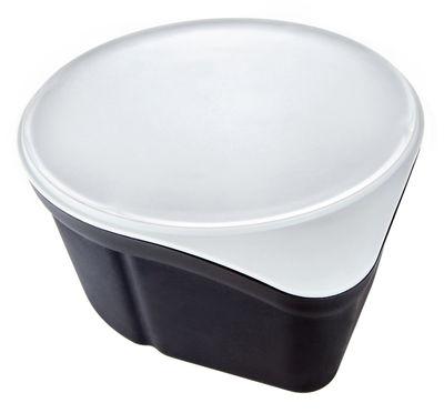 Poubelle de table anthracite gris royal vkb for Poubelle de table design