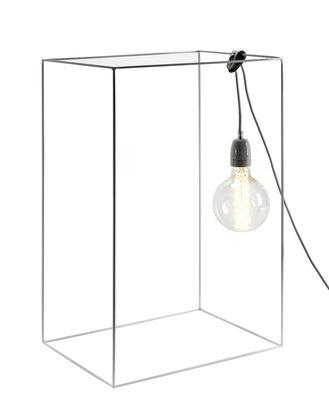 Lampe de table Carré / H 60 cm - Ampoule non fournie - Serax Blanc en Métal