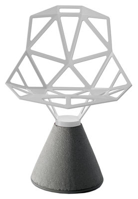 Foto Sedia Chair one B di Magis - Bianco - Metallo Poltrona