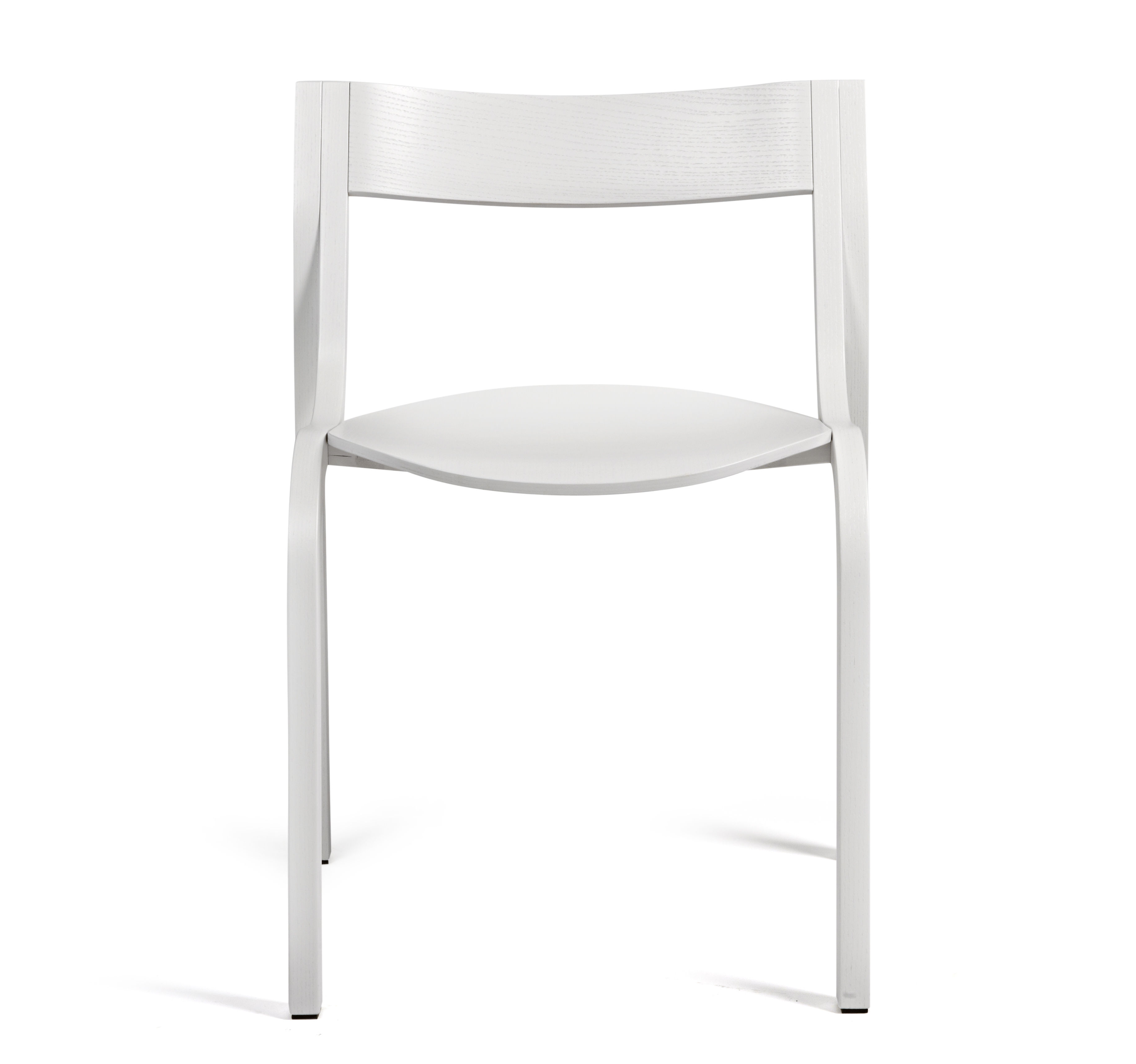 Chaise empilable konrad bois teint blanc lapalma - Bois teinte blanc ...