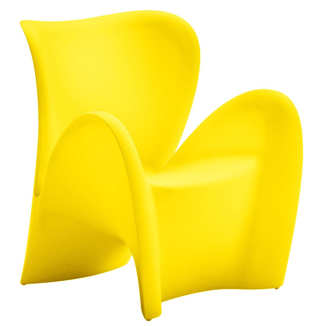 fauteuil lily plastique jaune mat myyour. Black Bedroom Furniture Sets. Home Design Ideas