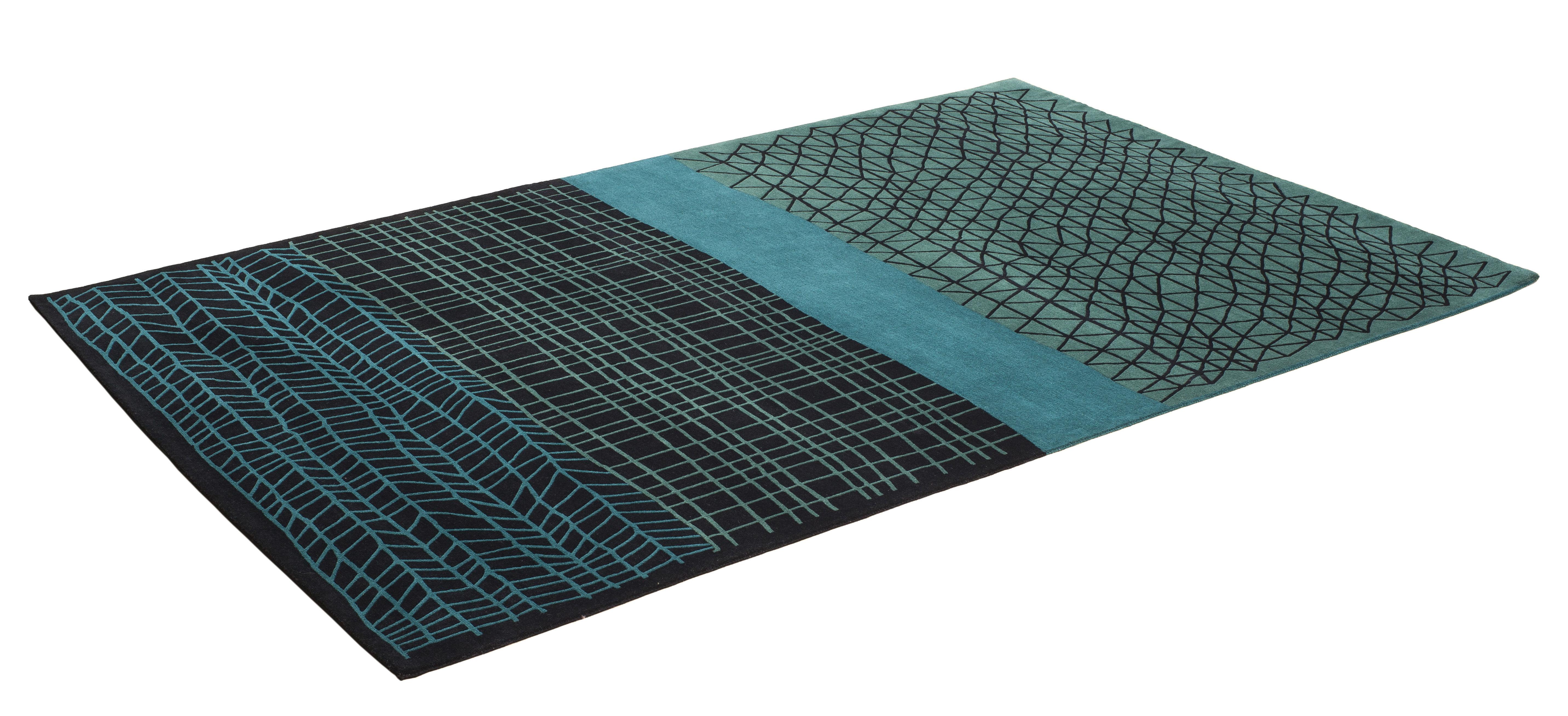 tapis mogador 300 x 200 cm noir vert bleu chevalier dition. Black Bedroom Furniture Sets. Home Design Ideas