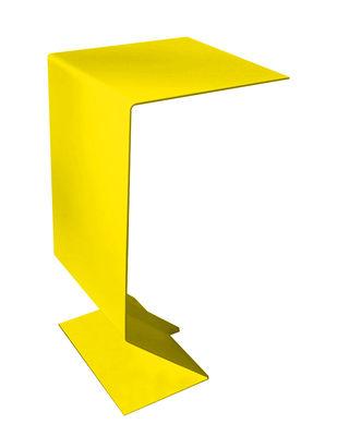 Foto Tavolino d'appoggio Mark di Moroso - Giallo verde - Metallo