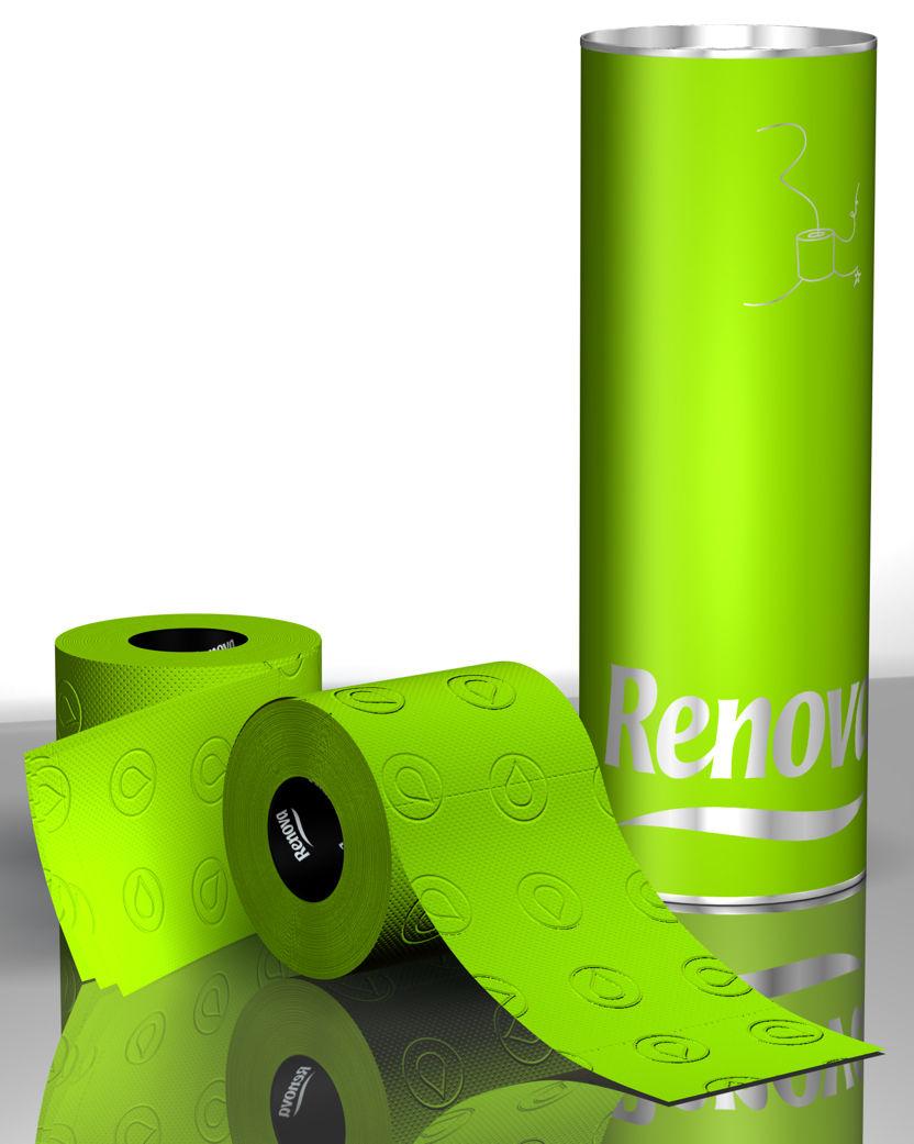 Papier Toilette Kit Cadeau 3 Rouleaux Vert 3 Rouleaux