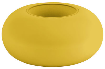 Foto Gamba da tavolo Faituttotu - Modulo impilabile per piede di tavolo di Serralunga - Giallo - Materiale plastico
