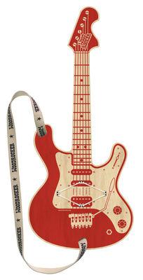Foto Chitarra da bambini Woodrocker / Senza corde - Applicazione smartphone gratuita - Pa Design - Rosso,Legno naturale - Legno Guitare enfant