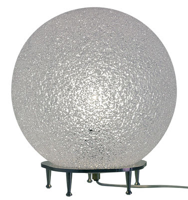 Foto Lampada da pavimento IceGlobe di Lumen Center Italia - Bianco - Metallo