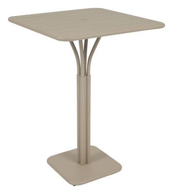 Foto Tavolo bar alto Luxembourg - 80 x 80 x A 105 cm di Fermob - Muscade - Metallo