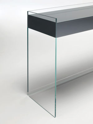 console float 3 tiroirs h 90 cm noir glas italia. Black Bedroom Furniture Sets. Home Design Ideas