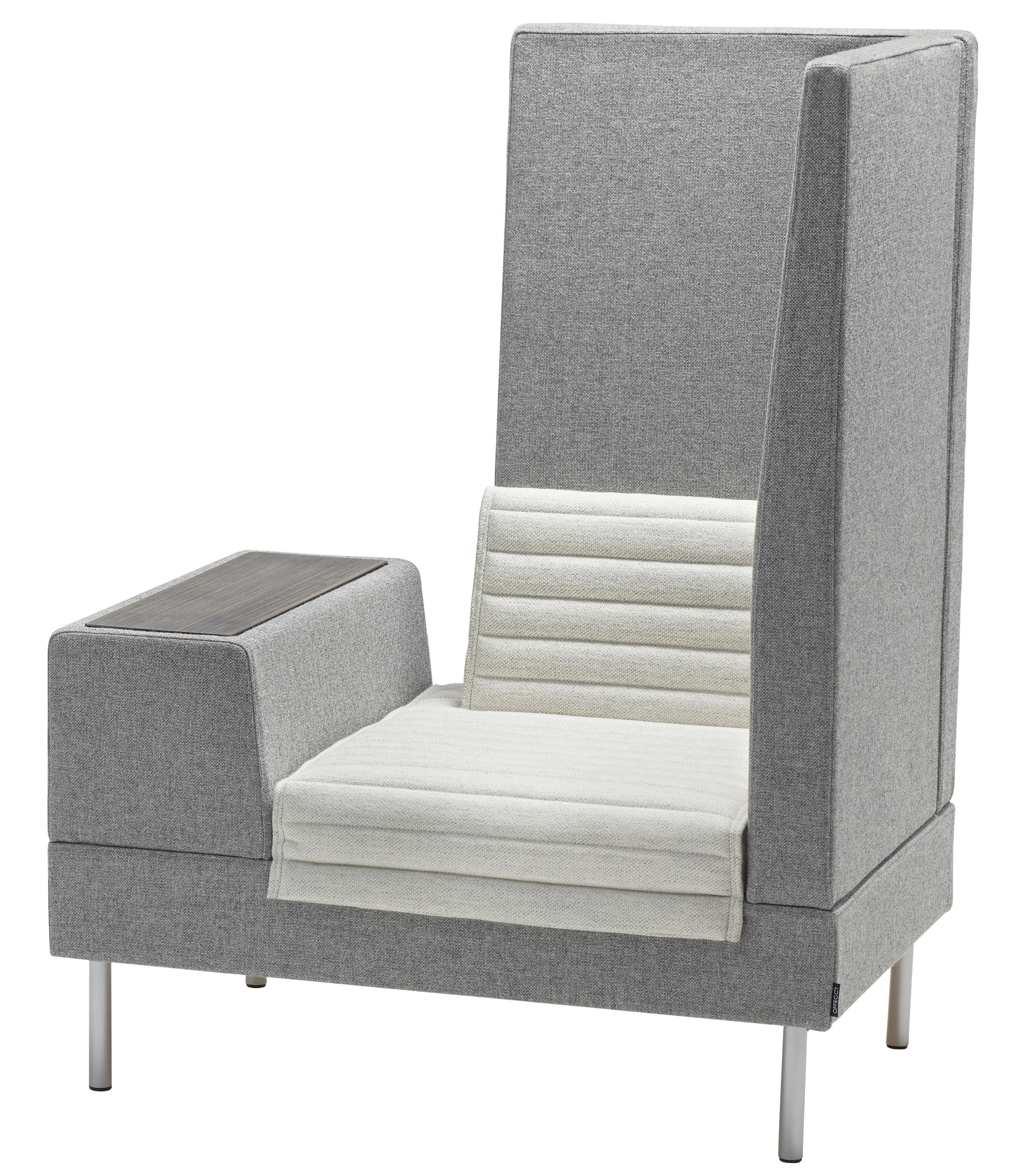 fauteuil rembourr smallroom angle droit l 100 cm gris angle droit offecct. Black Bedroom Furniture Sets. Home Design Ideas
