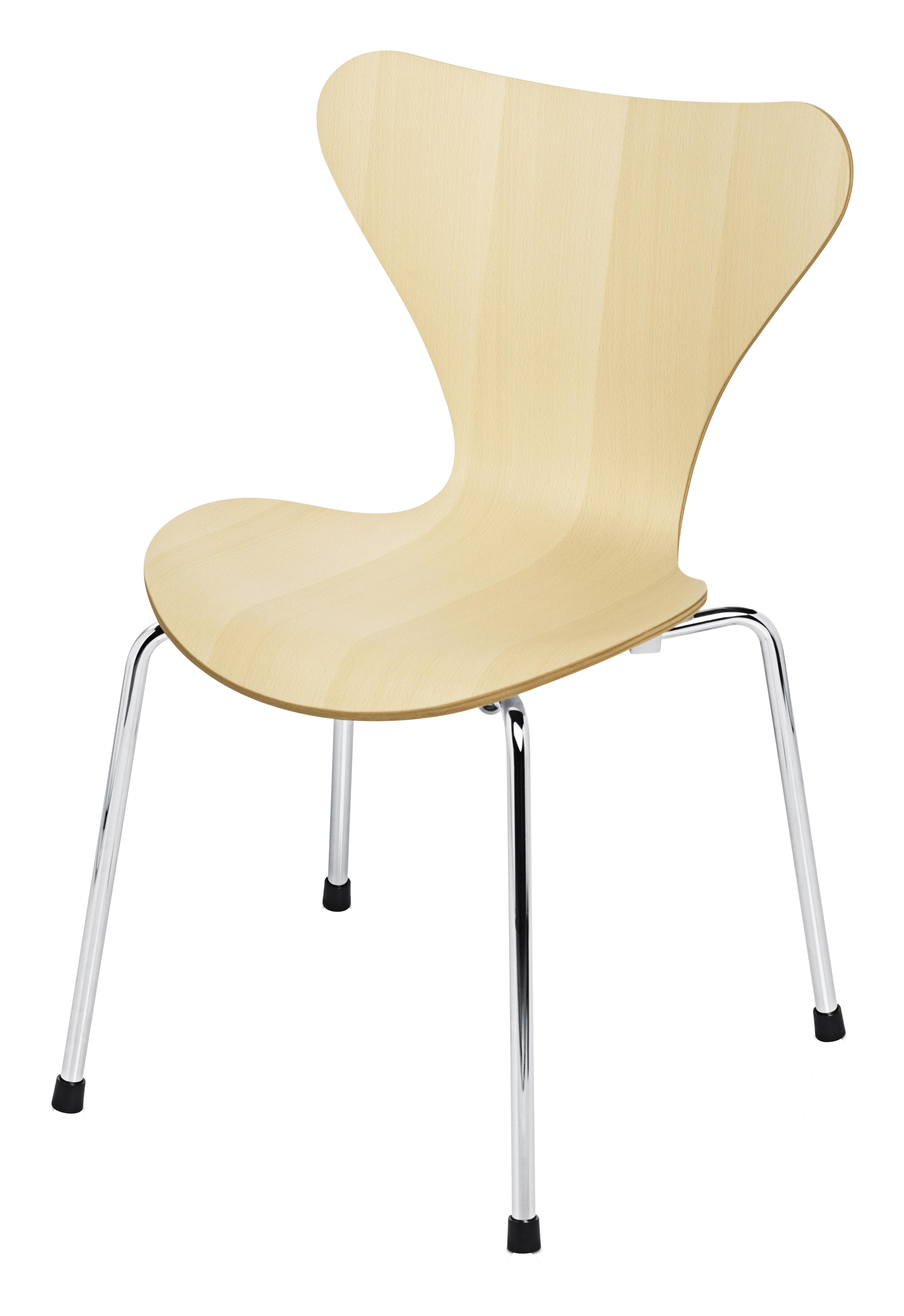 chaise enfant s rie 7 bois naturel h tre fritz hansen. Black Bedroom Furniture Sets. Home Design Ideas
