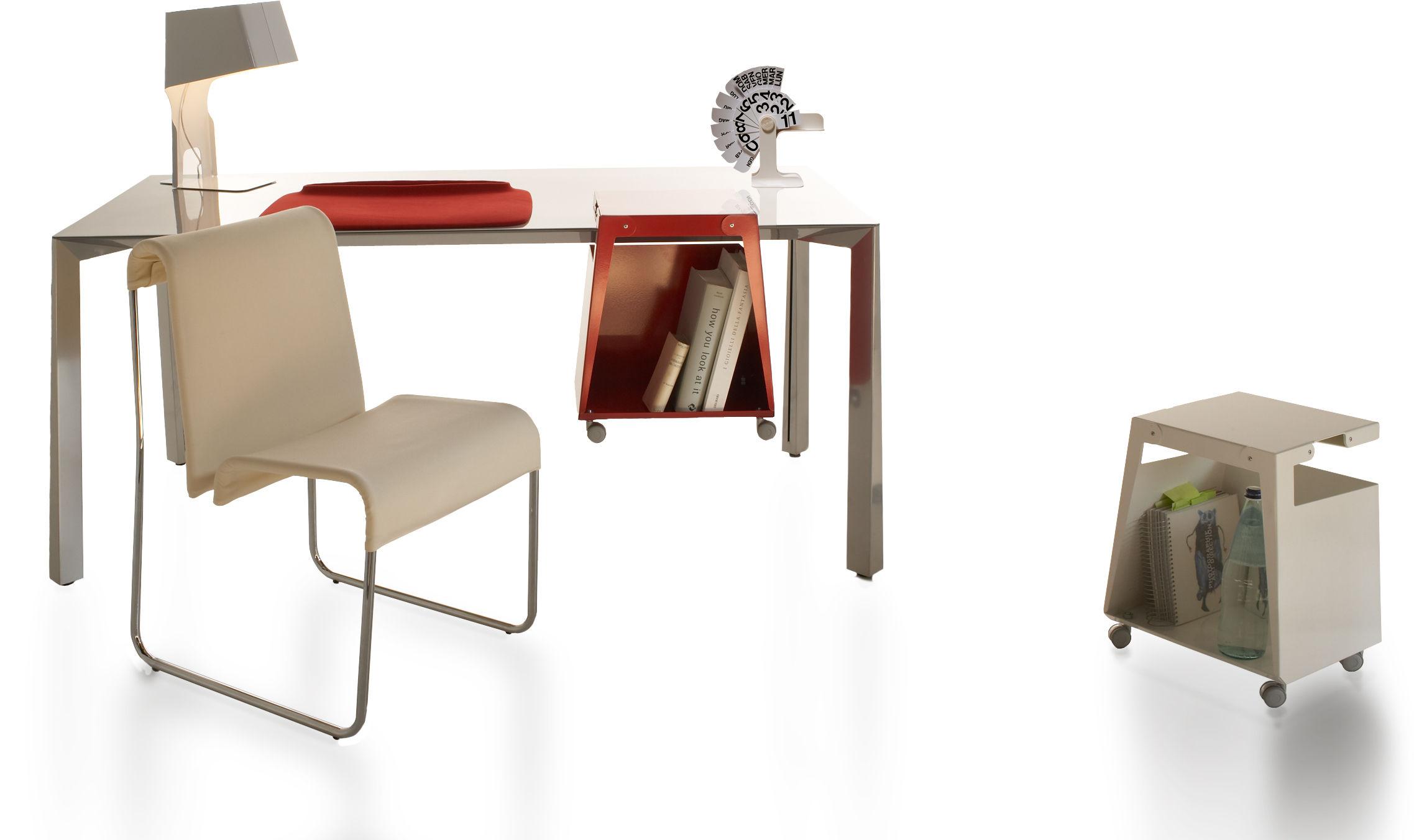 Table d 39 appoint smith l 32 cm meuble ordinateur blanc - Table d appoint ordinateur ...