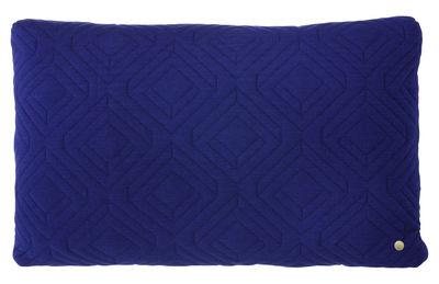 Foto Cuscino Quilt / 60 x 40 cm - Ferm Living - Blu notte - Tessuto