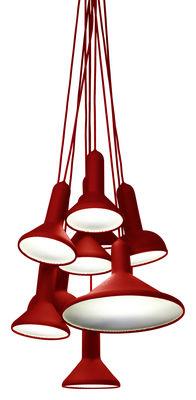 Suspension Torch / ensemble de 10 suspensions - Established & Sons Rouge en Matière plastique