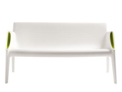 Foto Divano destro Magic Hole - interni/esterni di Kartell - Bianco,Verde - Materiale plastico