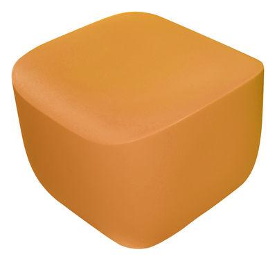 Foto Pouf Translation di Qui est Paul ? - Arancione - Materiale plastico