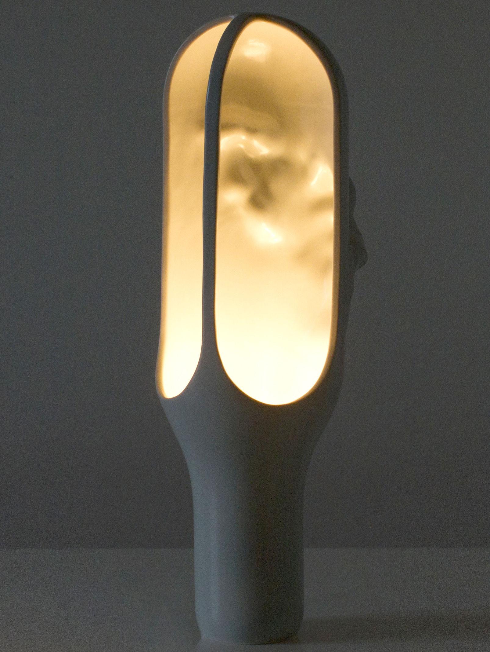 lampe de table the cave h 50 cm gris moustache. Black Bedroom Furniture Sets. Home Design Ideas