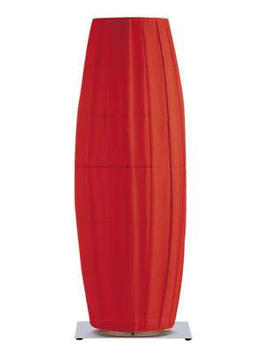 Foto Lampada da pavimento Colonne - H 66 cm di Dix Heures Dix - Rosso,Metallo opaco - Tessuto