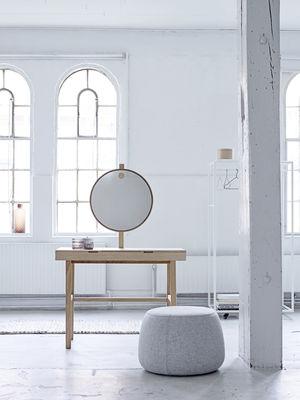 Coiffeuse phine miroir lumineux l 100 x h 75 cm bois - Miroir lumineux 100 cm ...