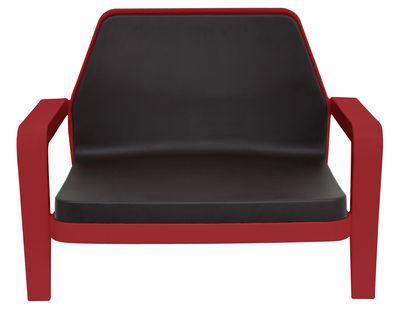 Foto Poltrona bassa America di Slide - Rosso,Cioccolato - Materiale plastico
