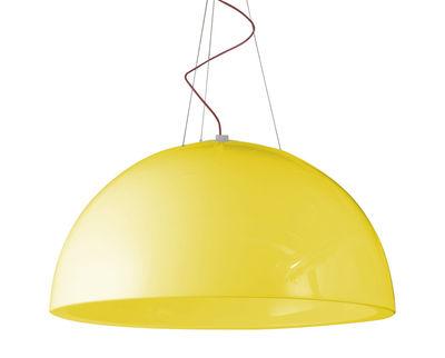 Foto Sospensione Cupole - versione laccata - Ø 80 cm di Slide - Laccato giallo - Materiale plastico