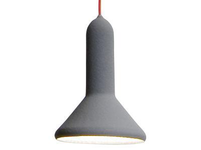 Suspension Torch Light / forme cônique - Ø 15 cm - Established & Sons Gris en Matière plastique