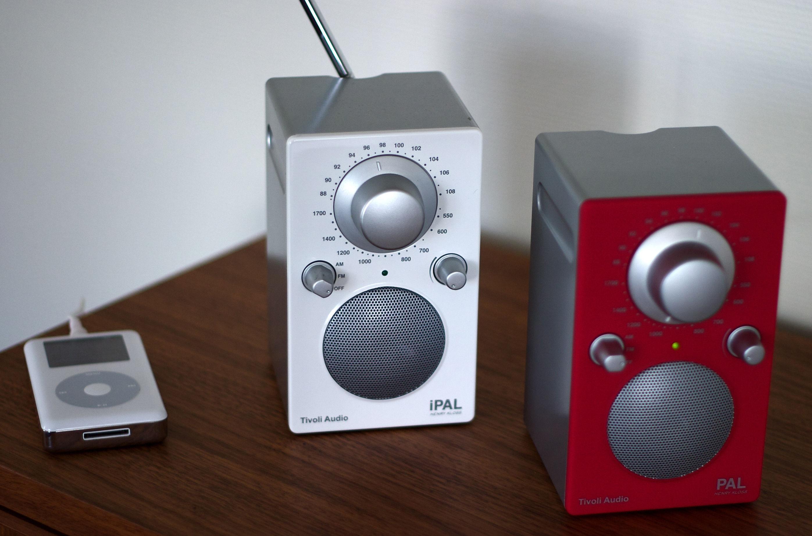 radio ipal enceinte portative compatible ipod blanc tivoli audio. Black Bedroom Furniture Sets. Home Design Ideas